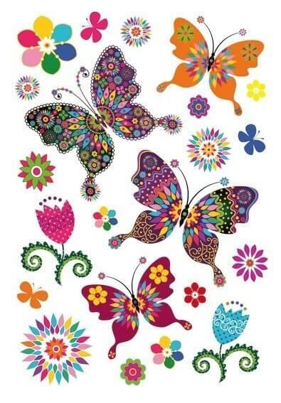 HERMA 3174 10x Sticker MAGIC Schmetterlingsvielfalt Glitterfolie
