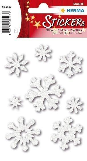 HERMA 6523 10x Sticker MAGIC Eiskristalle Filz