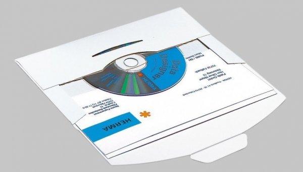 HERMA 2001 CD-PostPack Versandkuvert mit Steckverschluss 220 x 124 mm Karton 25 Stück Weiße