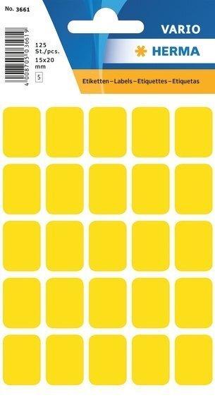 HERMA 3661 Vielzwecketiketten 15x20 mm gelb Papier matt 1250 Stück