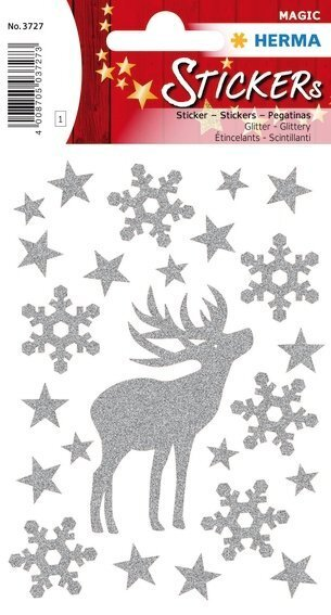 HERMA 3727 10x Sticker MAGIC Hirsch glittery