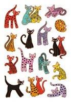 HERMA 3337 10x Sticker DECOR Abstrakte Katzen