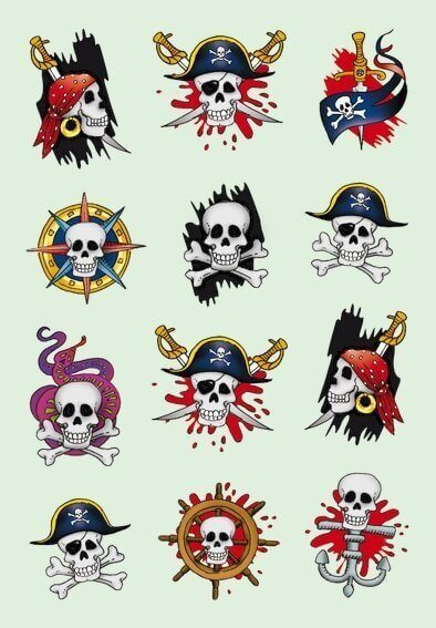 HERMA 3448 10x Sticker DECOR Piraten I