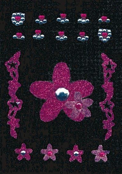 HERMA 6007 10x Glam Rocks Blumen pink