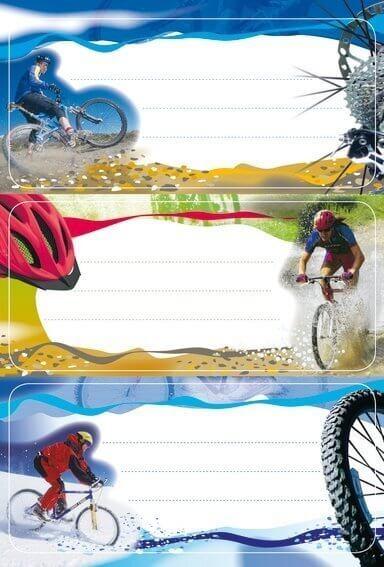 HERMA 5981 10x Schuletiketten Mountainbike