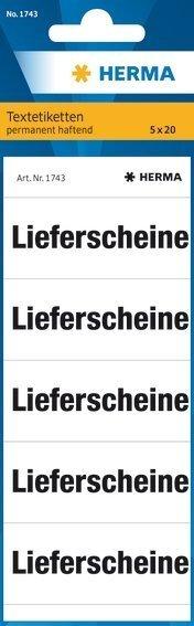 HERMA 1743 Textetiketten für Ordner Lieferscheine 60 x 26 mm Papier matt 1000 Stück Weiß