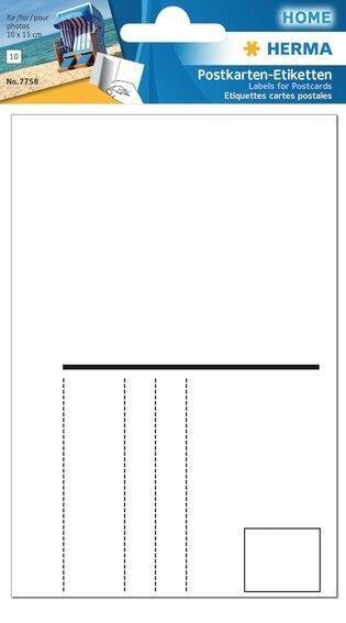 HERMA 7758 10x Postkartenetiketten 95x145 mm weiß