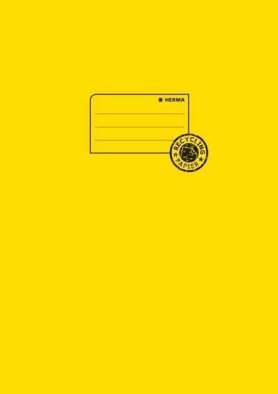 HERMA 5521 10x Heftschoner Papier A4 gelb