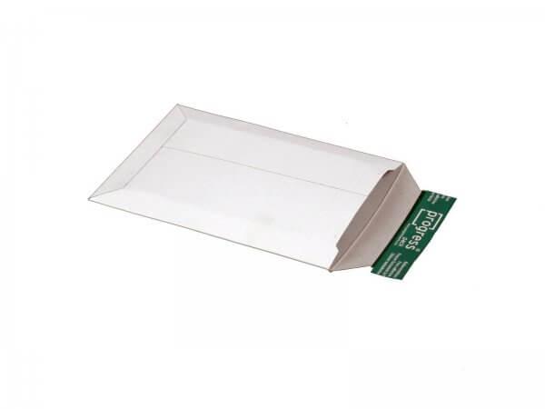 Versandtasche aus Vollpappe 250 x 175 x - 32 mm Weiß