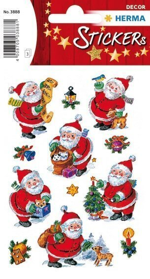 HERMA 3888 10x Sticker DECOR Lustiger Nikolaus
