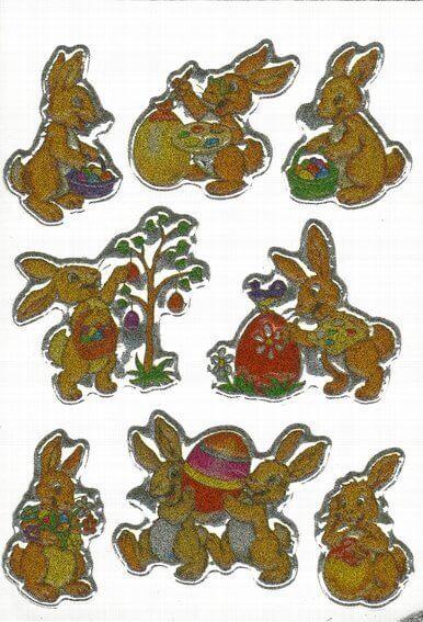 HERMA 6433 10x Sticker MAGIC Hasen geprägt