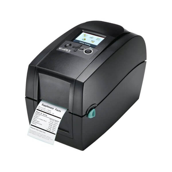 GoDEX Desktopdrucker RT230i 300 dpi USB LAN seriell Display