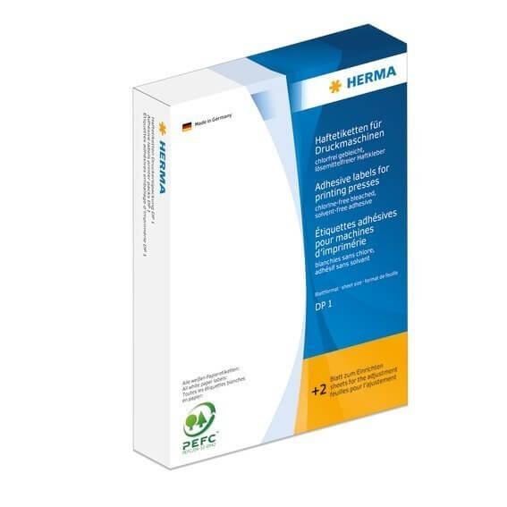 HERMA 2721 Haftetiketten für Druckmaschinen DP1 Ø 13 mm rund gelb Papier matt 10000 Stück