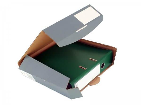Ordner-Transport-Box 320 x 288 x 80 mm Anthrazit
