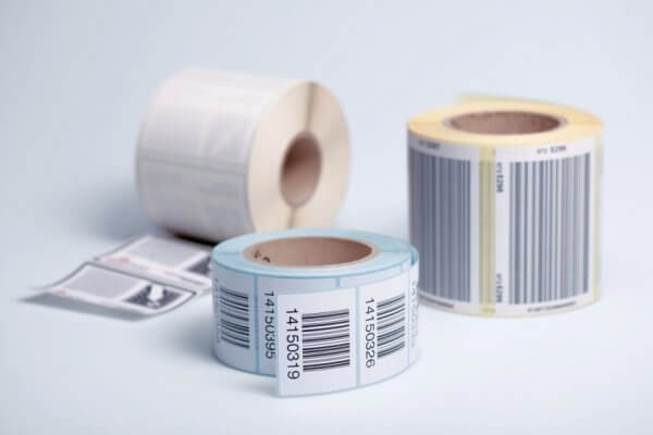 HERMA 4247 Rollenetiketten Thermotransfer 52x25 mm weiß Papier seidenmatt 5000 Stück
