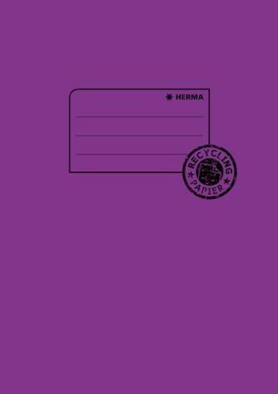 HERMA 5506 10x Heftschoner Papier A5 violett
