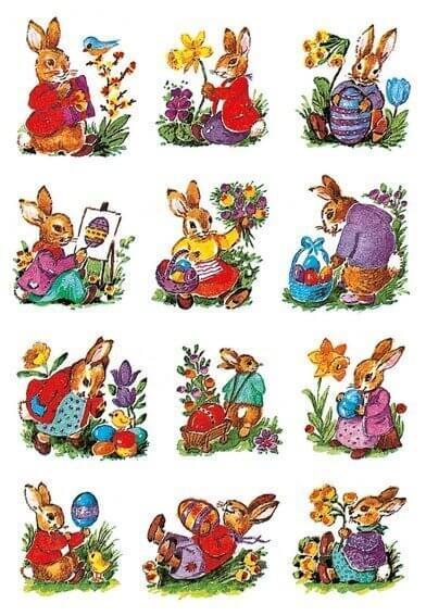HERMA 3876 10x Sticker DECOR Hasen nostalgisch