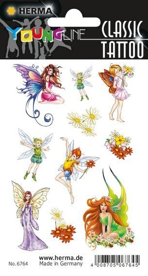 HERMA 6764 10x Tattoos Colour Art Feen