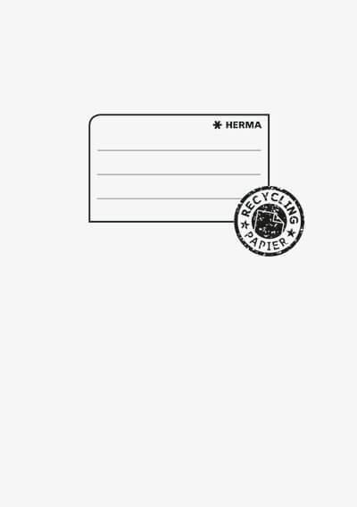 HERMA 5518 10x Heftschoner Papier A5 hellgrau