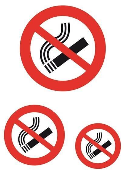 HERMA 5736 Hinweisetiketten Nicht rauchen wetterfest 30 Stück