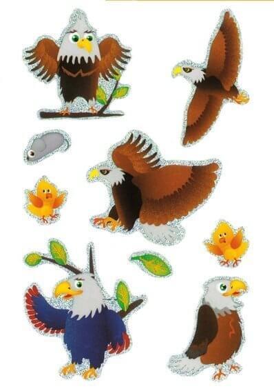 HERMA 3168 10x Sticker MAGIC Grosser Adler Prismaticfolie
