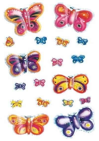 HERMA 6034 10x Sticker MAGIC Schmetterlinge 3D Flügel