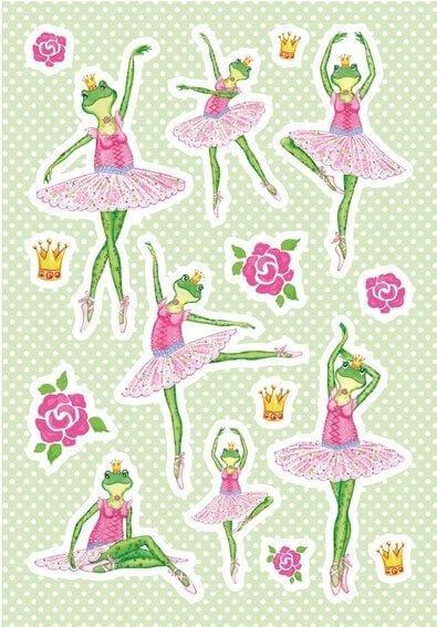 HERMA 3091 10x Sticker MAGIC Frosch Ballerina Folie beglimmert