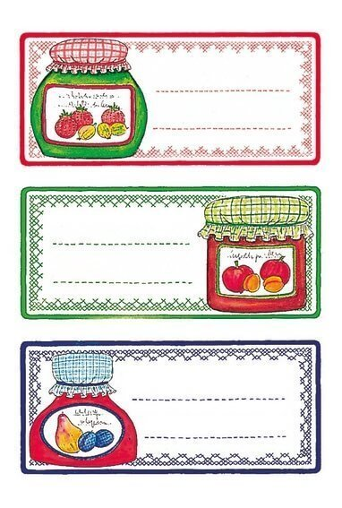 HERMA 3766 10x Küchenetiketten Einmachgläser
