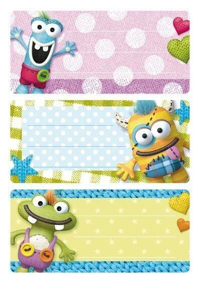 HERMA 5513 10x Schuletiketten Kleine Monster