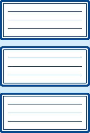 HERMA 5798 10x Schuletiketten neutral blauer Rand liniert 76x35 mm