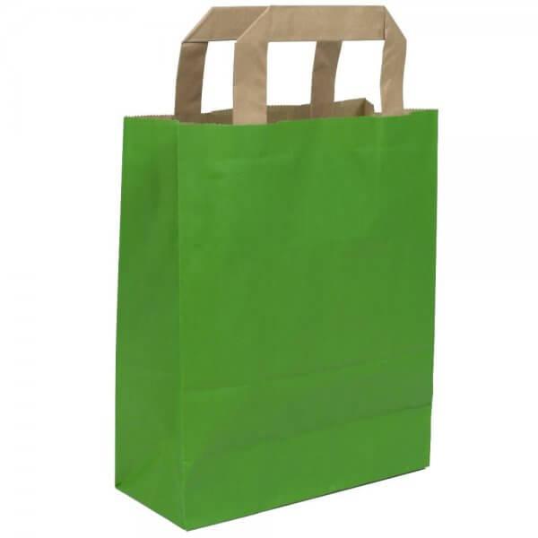 Papiertragetaschen 22 + 10 x 28 Grün