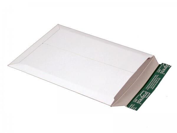 Versandtasche aus Vollpappe 350 x 265 x - 32 mm Weiß