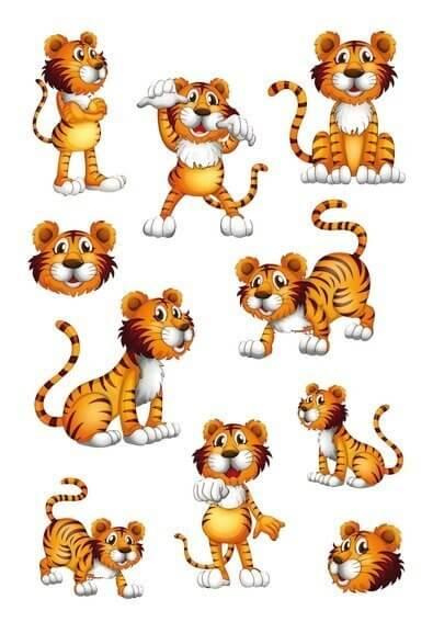 HERMA 3177 10x Sticker MAGIC Tiger Wackelaugen