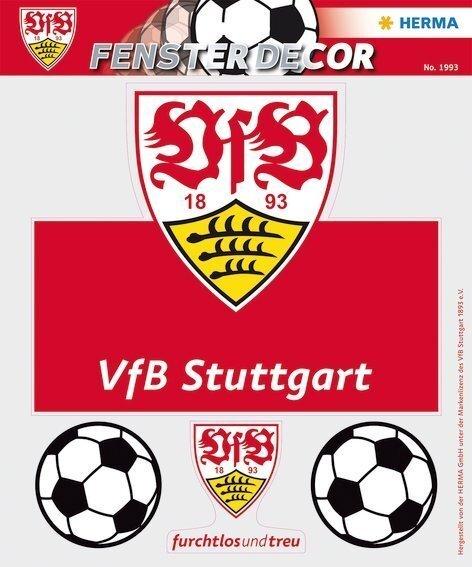 HERMA 1993 Fensterdecor VfB 25 x 35 cm Brustring