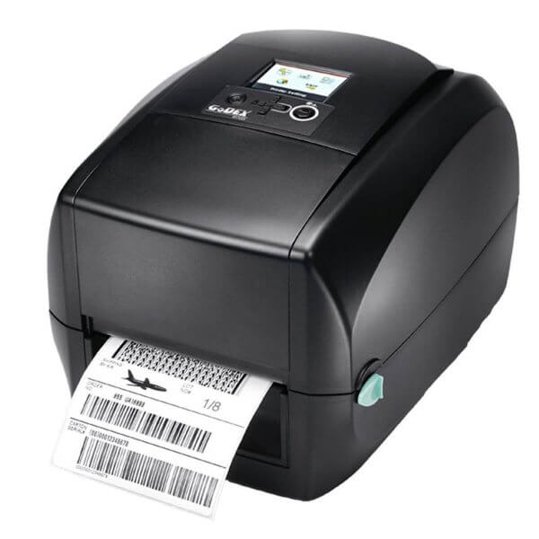GoDEX Desktopdrucker RT730i 300 dpi USB LAN seriell Display