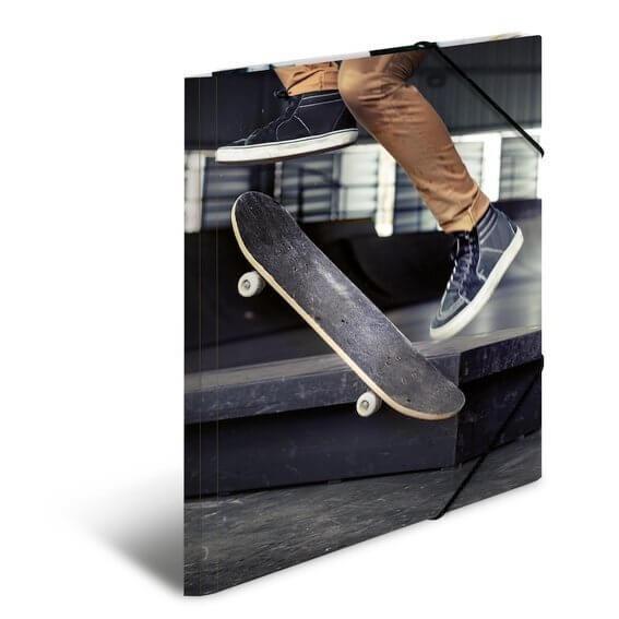 HERMA 19233 3x Sammelmappe A3 Karton Skateboard
