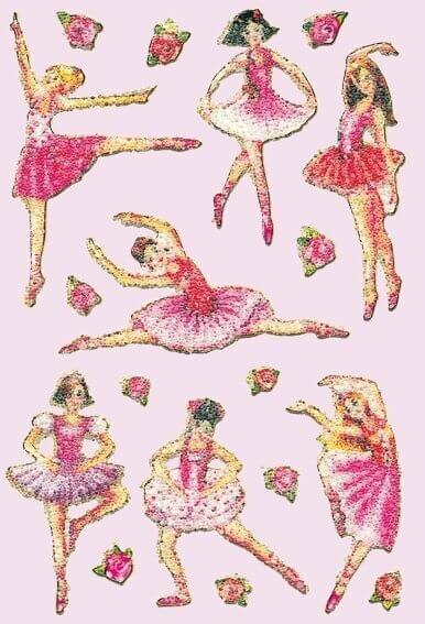 HERMA 6158 10x Sticker MAGIC Ballerina Crystal