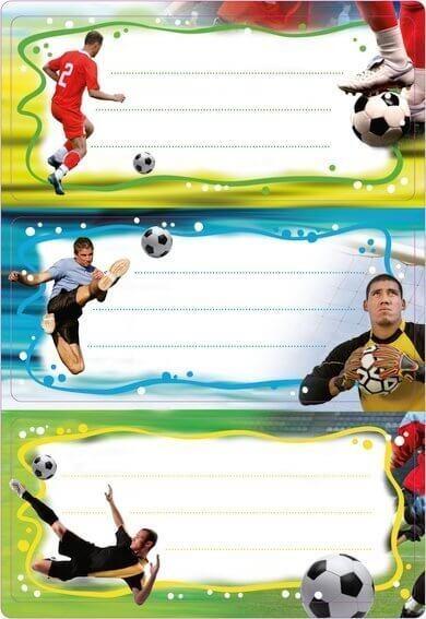 HERMA 5588 10x Schuletiketten Fußball beglimmert