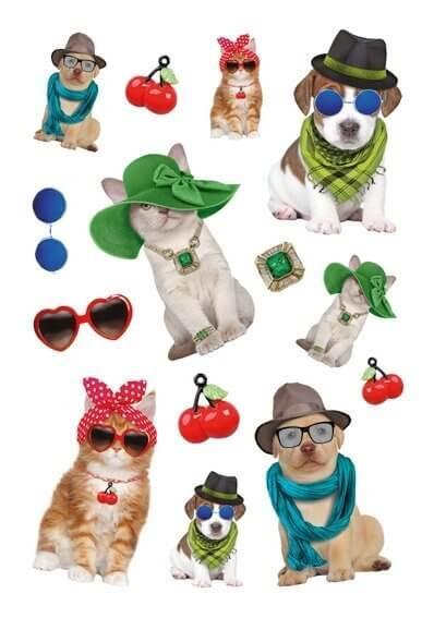 HERMA 3095 10x Sticker MAGIC Behütete Tiere Transparente Folie