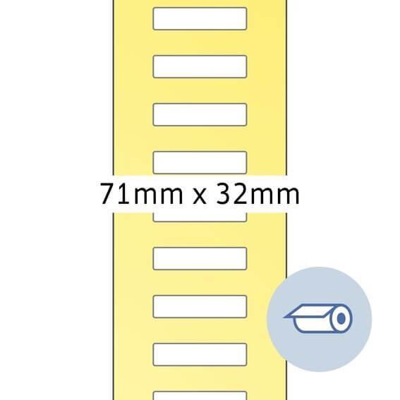 HERMA 4075 Rollenetiketten Thermotransfer 71x32 mm weiß Papier seidenmatt 5000 Stück