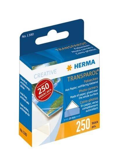 HERMA 1380 10 x 250 Transparol Fotoecken Spendepackung