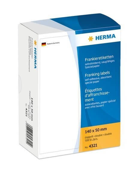 HERMA 4321 Frankieretiketten doppelt 140x50 mm 500 Stück