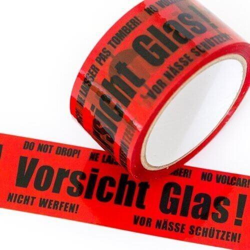 """PP Klebeband 50 mm """"Vorsicht Glas"""""""