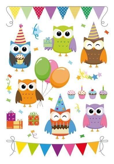 HERMA 3708 10x Sticker MAGIC Birthday Party Prismaticfolie + Foam