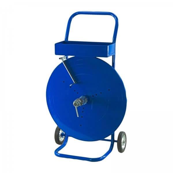 Fahrbarer Abrollwagen für Bandbreiten 12 - 16 mm